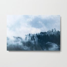Nature Forest Mistic Metal Print