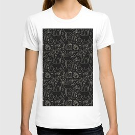 African Animal Mudcloth in Black + Bone T-shirt