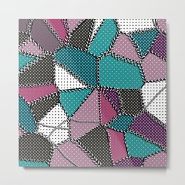 Country patchwork Metal Print