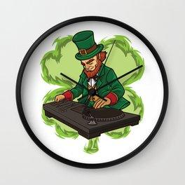 DJ Leprechaun Live On Stage - Irish Electro Music Wall Clock