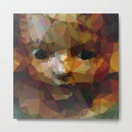 Geometric Doll Metal Print