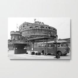 Castel Sant Angelo between past and present B/N Metal Print