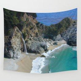Watercolor Landscape, Julia Pfeiffer Burns State Park 01, California Wall Tapestry