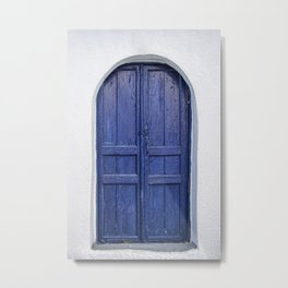 Door in Greece Metal Print