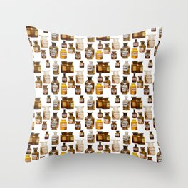 Vintage Chemistry Bottles Throw Pillow