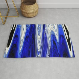 Zigzag Cobalt Blue Rug