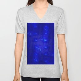 Blue lights, blue shadows ... Unisex V-Neck