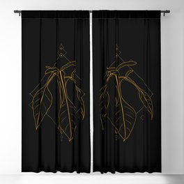 Gold Philodendron Joepii Blackout Curtain