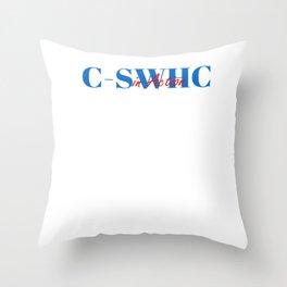 Happy C-SWHC Throw Pillow
