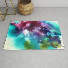 Abstract in Purple and Blue Rug
