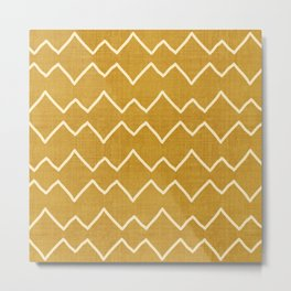 Urbana in Gold Metal Print