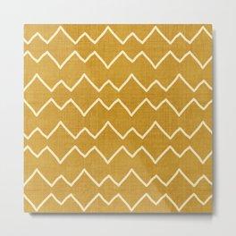 Urbana in Gold Metal Print