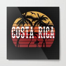 Costa Rica Travel Shirt Gift Motif Design Metal Print
