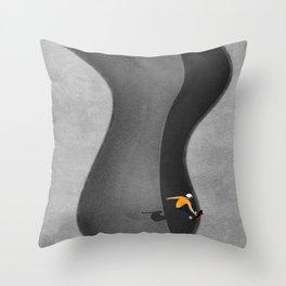 Skatepark | Aerial Illustration Throw Pillow