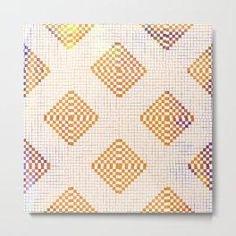 Geometric Tile Floor Pattern in Sunset  Metal Print