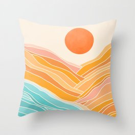 Adventure On The Horizon / Abstract Landscape Throw Pillow