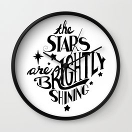 The Stars are Brightly Shining Wall Clock