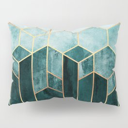 Teal Hexagons Pillow Sham