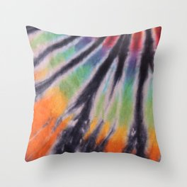 70s Spiral Pattern - Pride Throw Pillow