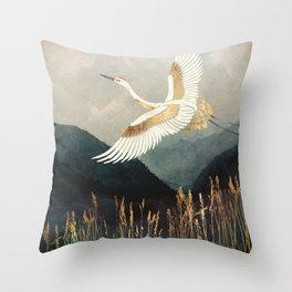 Elegant Flight Throw Pillow