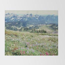 Wildflower Meadow Throw Blanket