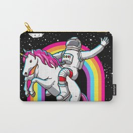 Astronaut Riding Unicorn Carry-All Pouch