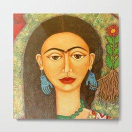 My homage to Frida Metal Print