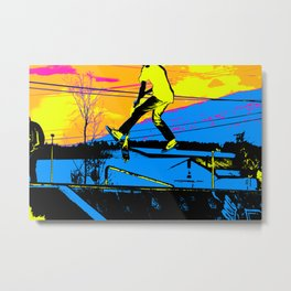 """Air Walking""  - Stunt Scooter Metal Print"