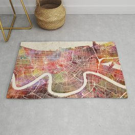 New Orleans map Rug