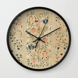 Uzbekistan Suzani Nim Embroidery Print Wall Clock