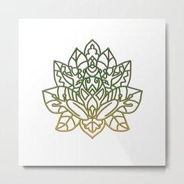 Frog Mandala Metal Print