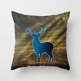 Deer warp out Throw Pillow