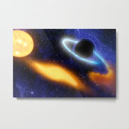 Black Hole Grabs Starry Snack Artist Concept | Spacer Collection Metal Print