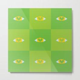 Heart Eyes - Green Shade Metal Print