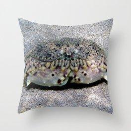 Watercolor Crustacean, Flame Box Crab 01, St John, USVI, Keep Smilin'! Throw Pillow