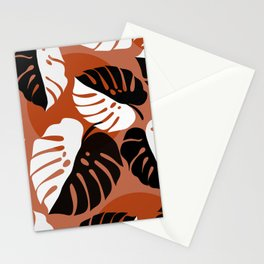 Abstraction_SUN_Monstera_Minimalism_001 Stationery Cards