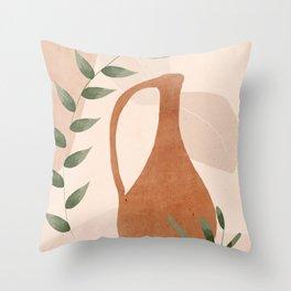 Vase Abstract Art Throw Pillow
