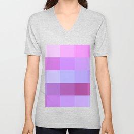 Pixels: Purple & Pink Unisex V-Neck