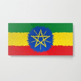 Flag of Ethiopia - Extruded Metal Print