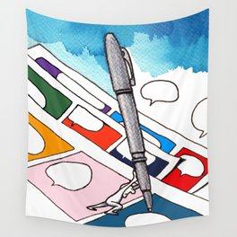 Pencil Pusher Wall Tapestry
