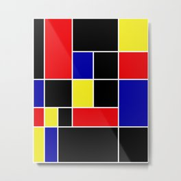 Mondrian #49 Metal Print