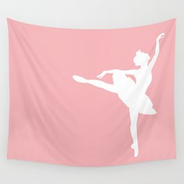 Pink and white Ballerina Wall Tapestry