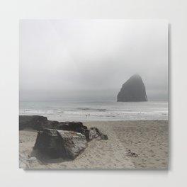 Haystack Rock At Cannon Beach Metal Print