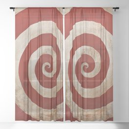 Sideshow Carnival Spiral Sheer Curtain