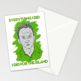 Compulsive Liar, Punching Bag, Anti-Hero:  Benjamin Linus Stationery Cards