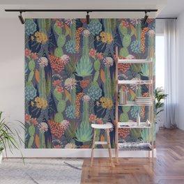 Modern Cactus Print Wall Mural