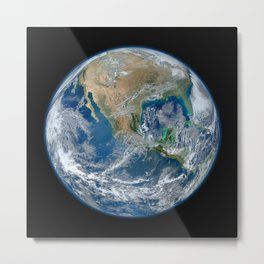 Our Beautiful Blue Marble Earth Metal Print