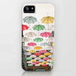 Ireland Dublin   Colorful street photography   Umbrella's iPhone Case