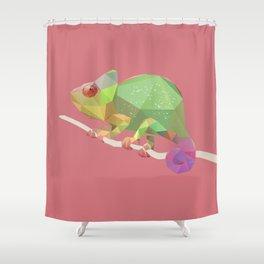 Chameleon. Shower Curtain