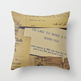 I'd like to make a date with you Throw Pillow